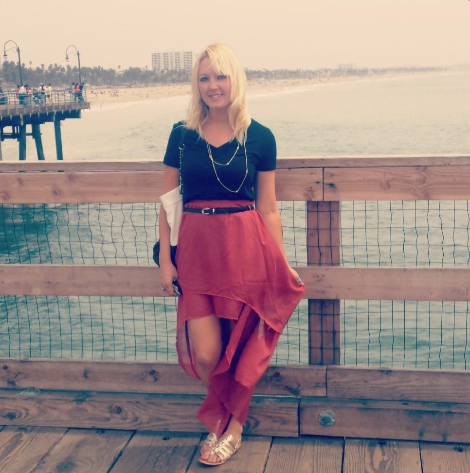 Shirt, Forever 21. Skirt, Fashion Rush. Belt, Fashion Rush. Sandals, Target. Necklace, Target. Purse, Payless
