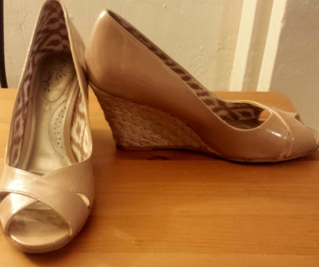 Nude rope wedges from Payless