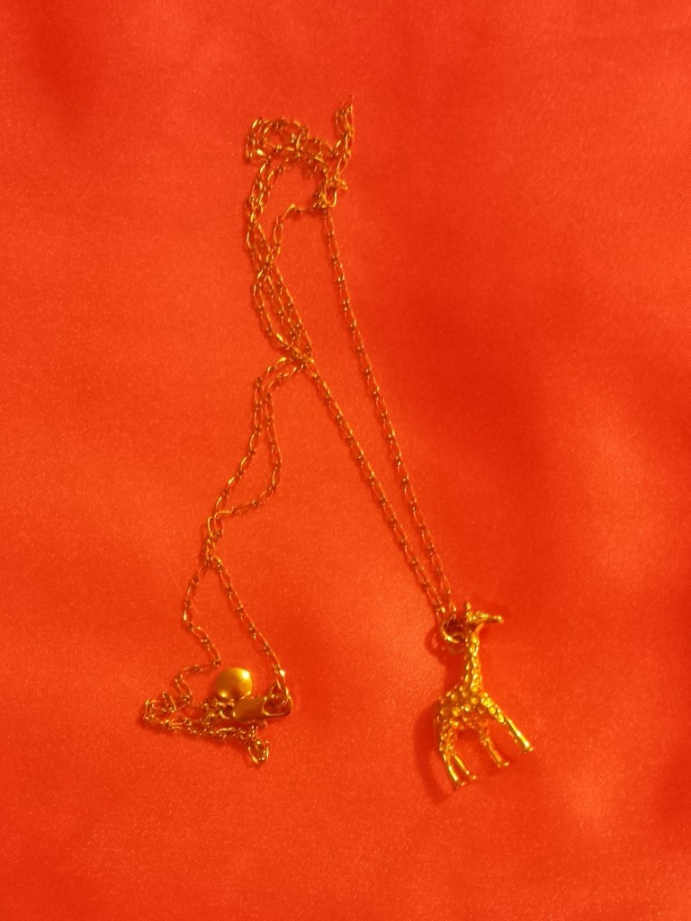 Giraffe necklace from J. Crew