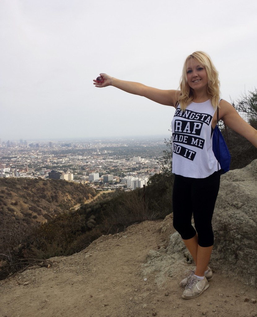 Top of Runyon Canyon. Gangsta Rap Made Me...Get out and get fit?