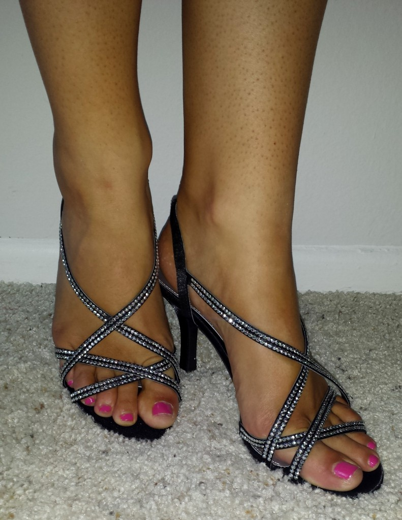 The perfect heel height and width. Not too high, and not too skinny to where you teter
