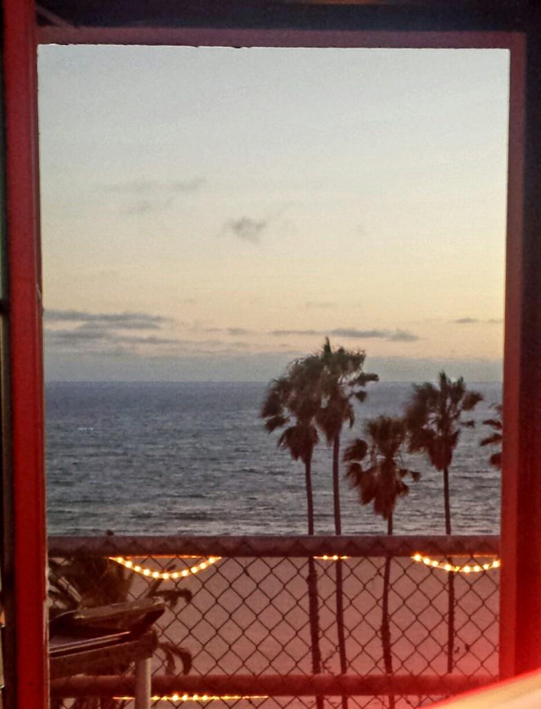 Sunset through a porthole