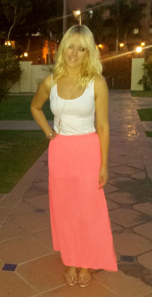 Pink flowy skirt 3