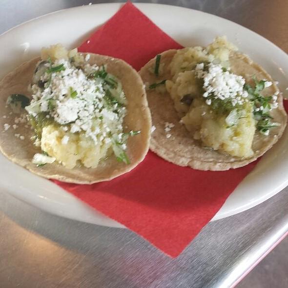 Potato tacos at Loteria