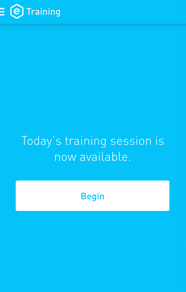 Training occurs once a day