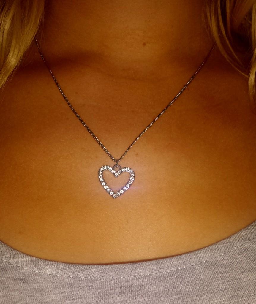 Studded silver heart