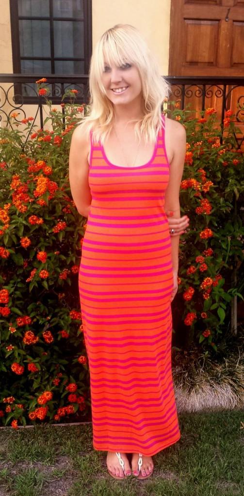 hot pink maxi dress 1