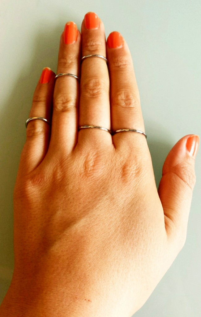 Midi rings - in one day, out the next