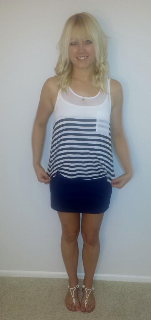 nautical tank blue skirt 3
