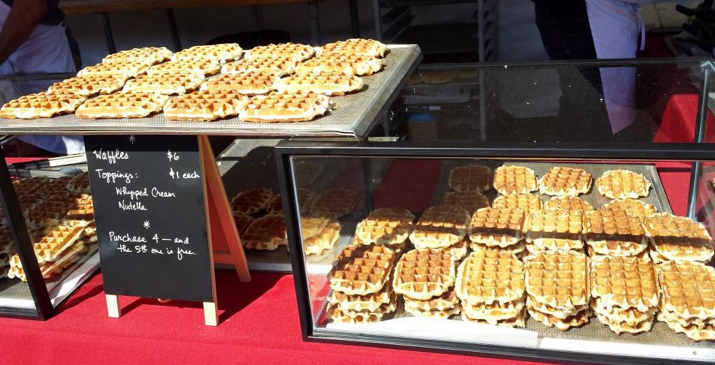 Mmmmm Nutella waffles!