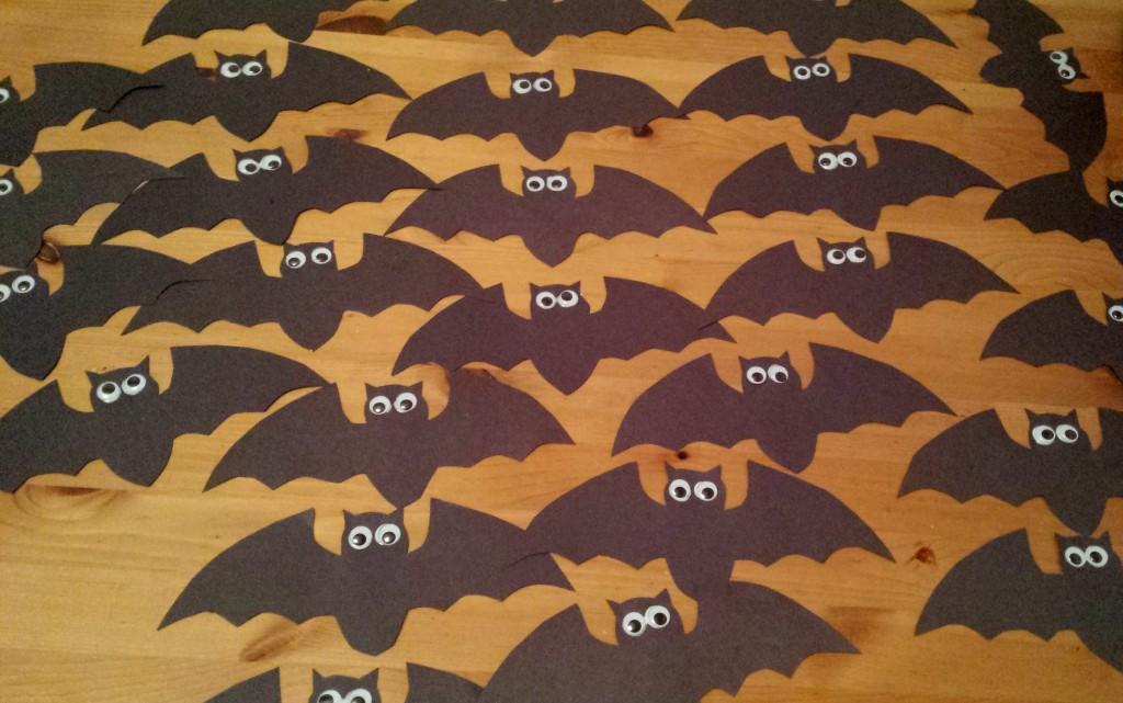 Bats googly eyes