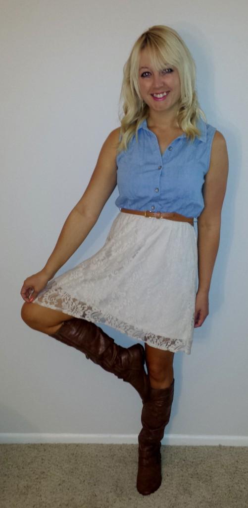 Dress and boots, Fashion Rush