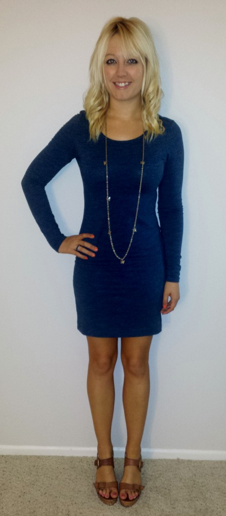 Blue Longsleeved dress 2