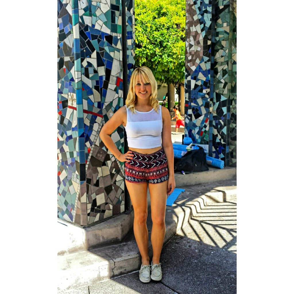 FIDM Shorts and Crop Top