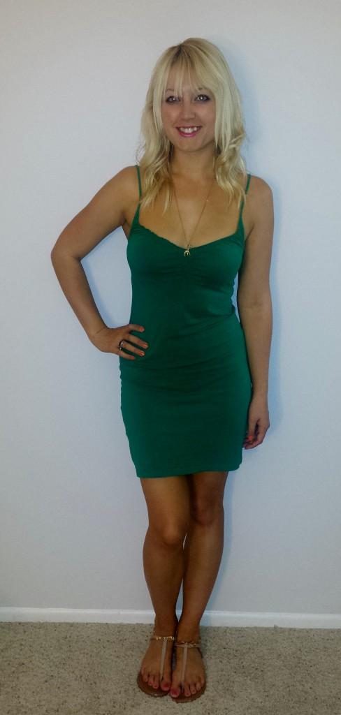 Green H&M strappy dress 1