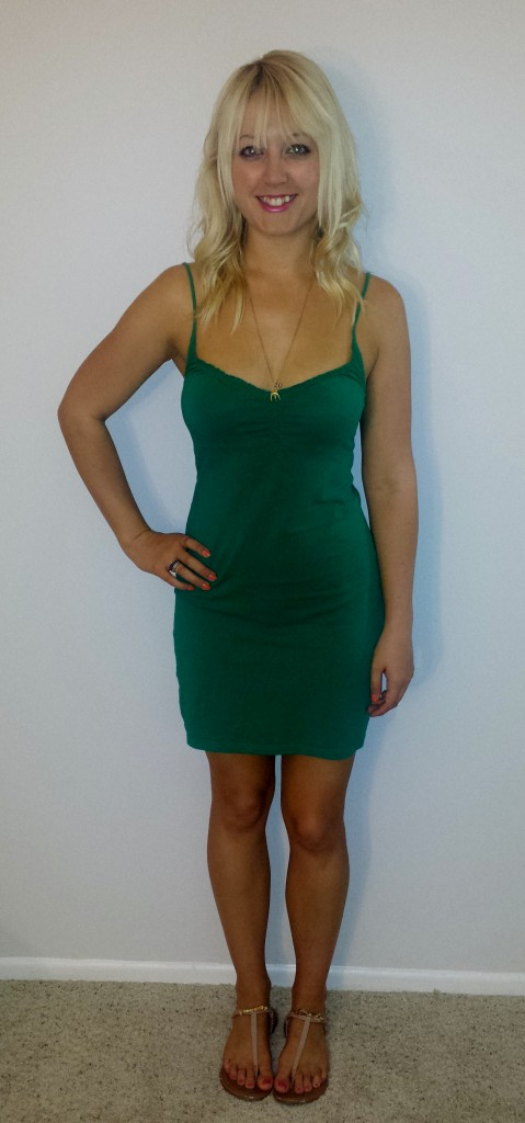 Green H&M strappy dress 2