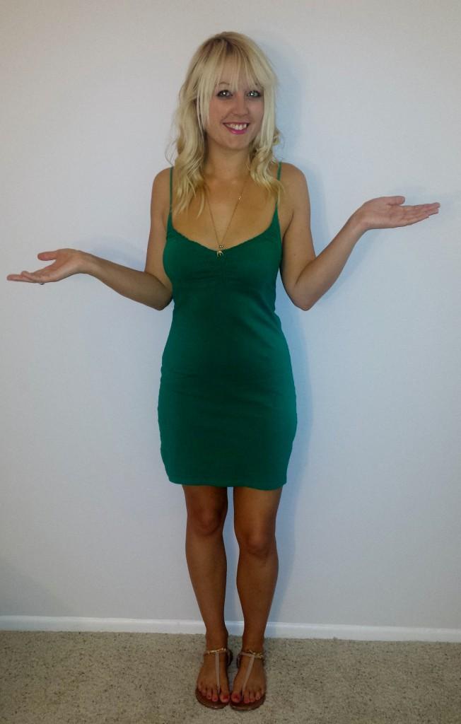 Green H&M strappy dress 3