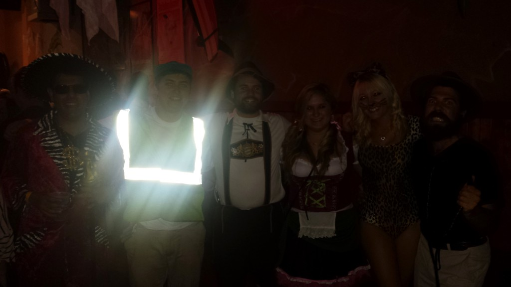 It turns out construction vests ARE reflective! Lol!