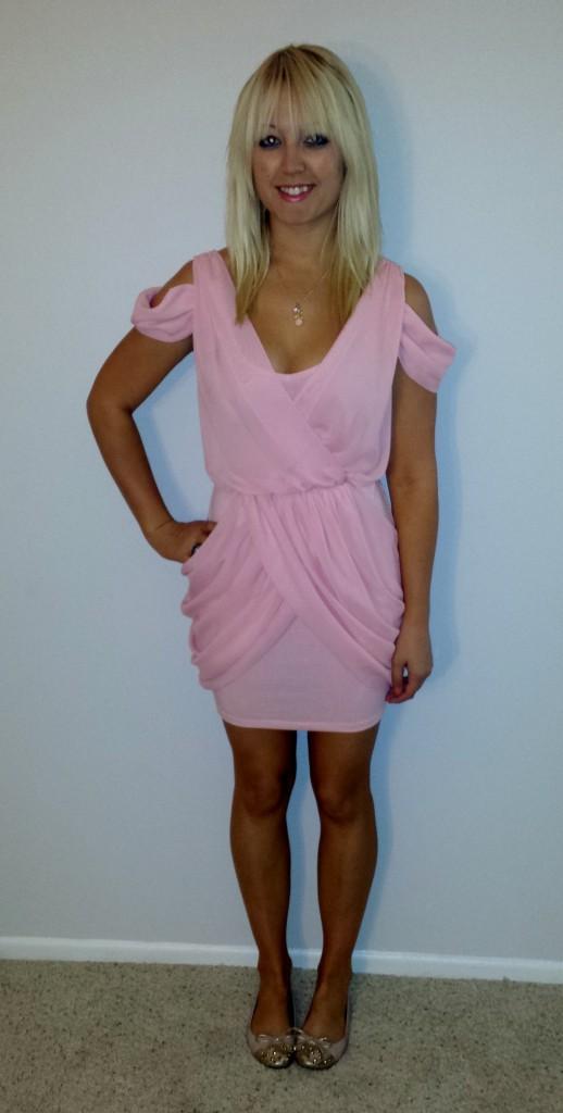 Baby pink dress 1