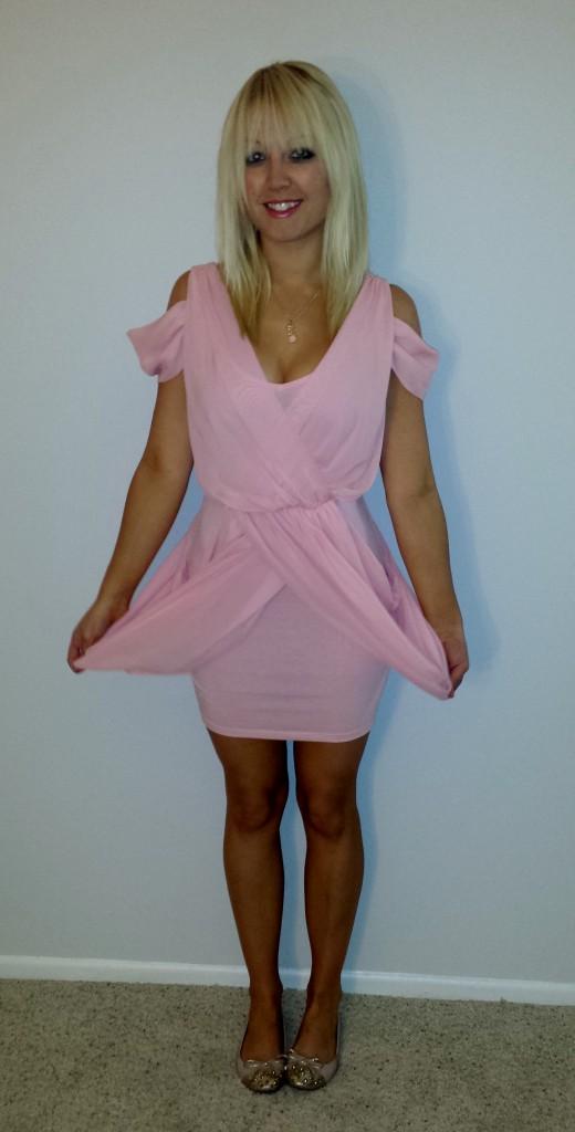 Baby pink dress 2