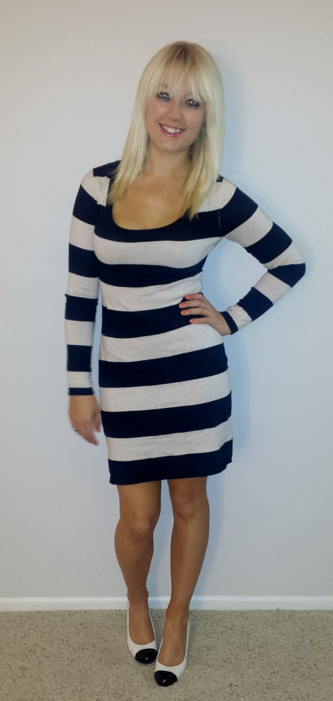 Black and white striped sweaterdress 3
