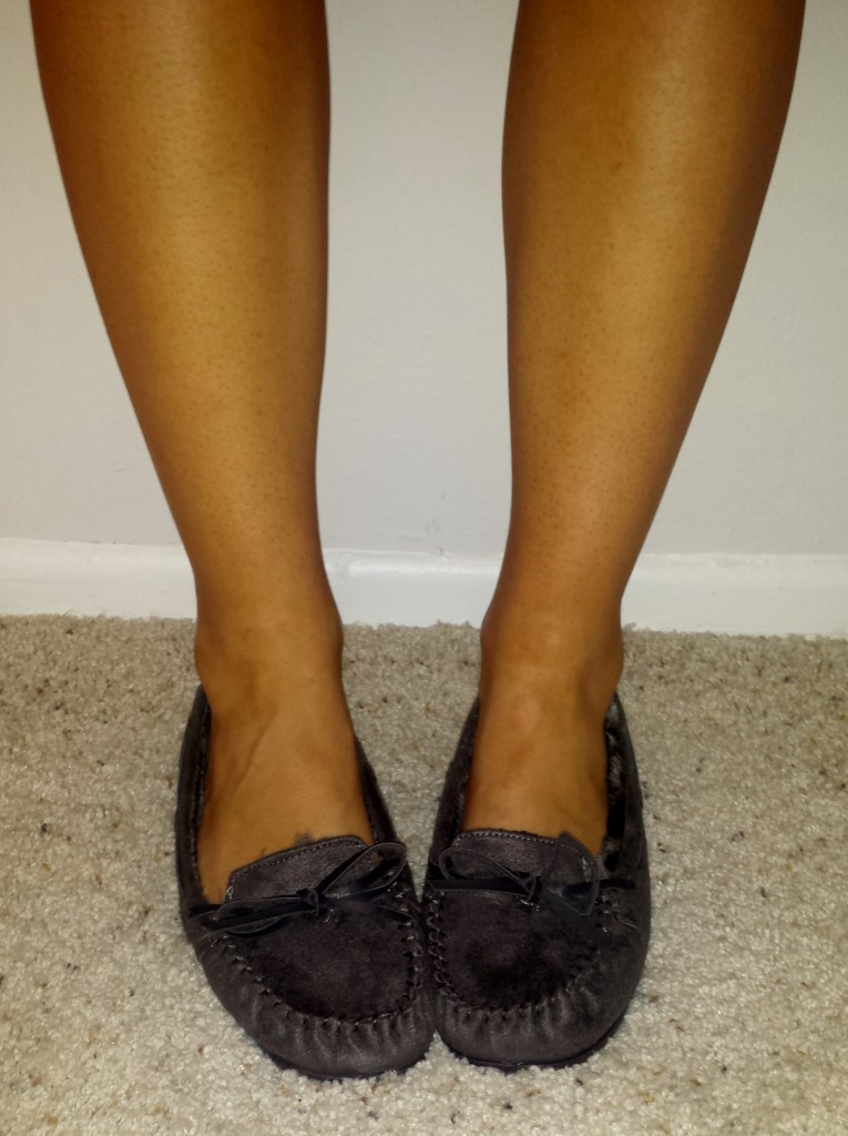 New Shoes - Gray Moccasins 2