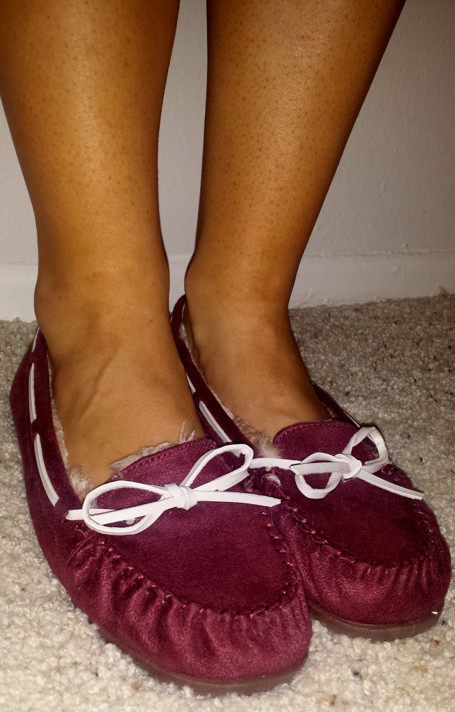 New Shoes - Maroon Moccasins 2