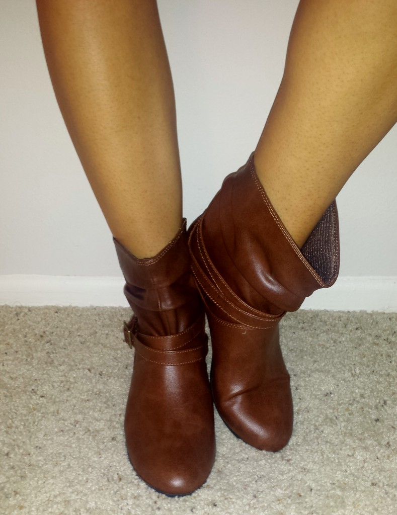 New shoes - dark brown boots 3