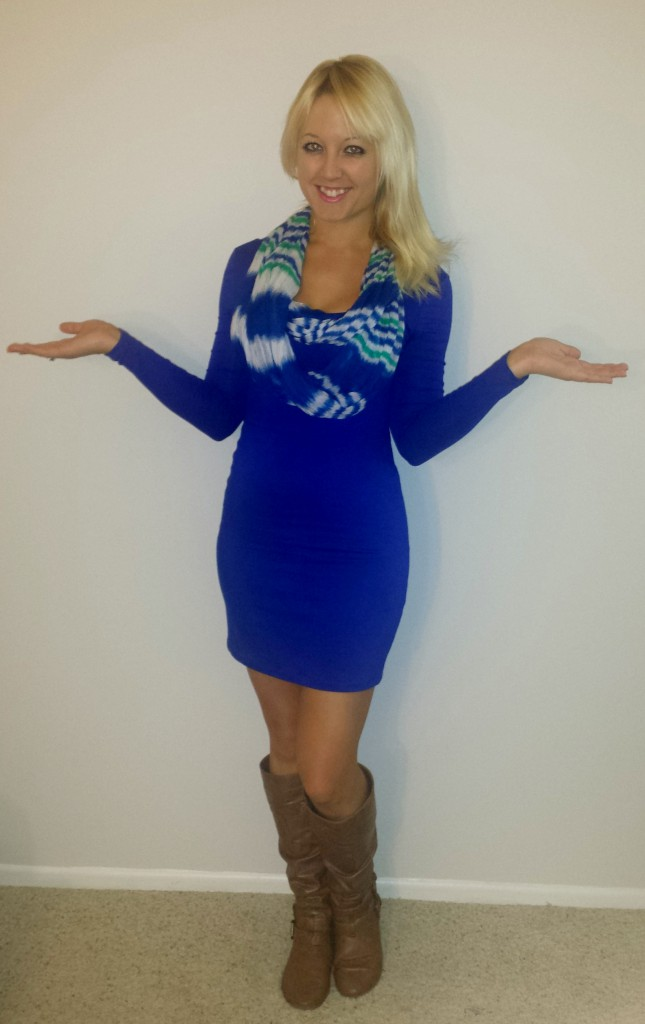 Blue Long-Sleeved Dress 1