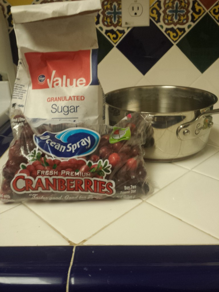 You don't need much to make homemade cranberry sauce