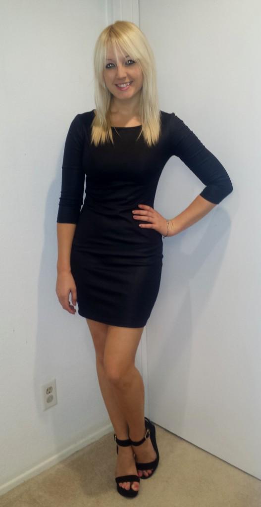 Black Long-Sleeved Dress 1