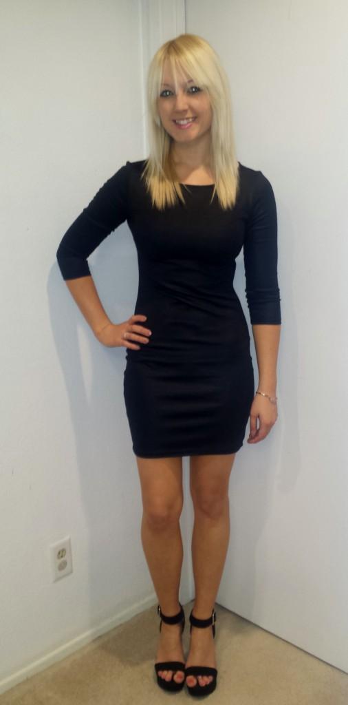 Black Long-Sleeved Dress 2