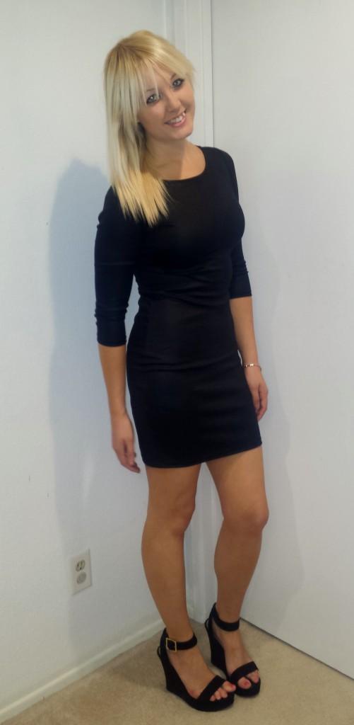 Black Long-Sleeved Dress 3