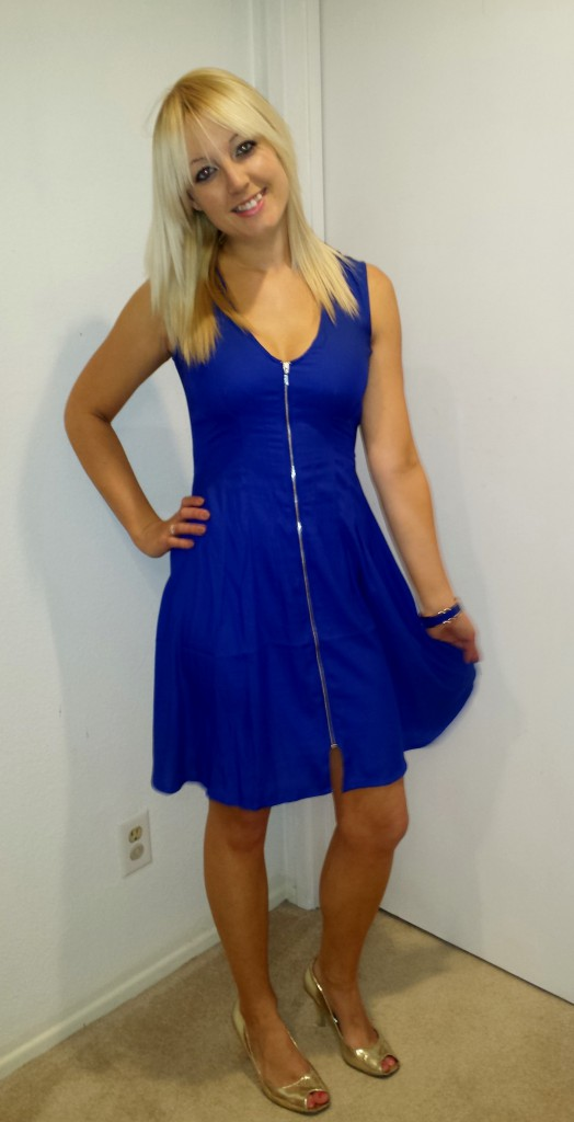 Blue Work Party Dress 1