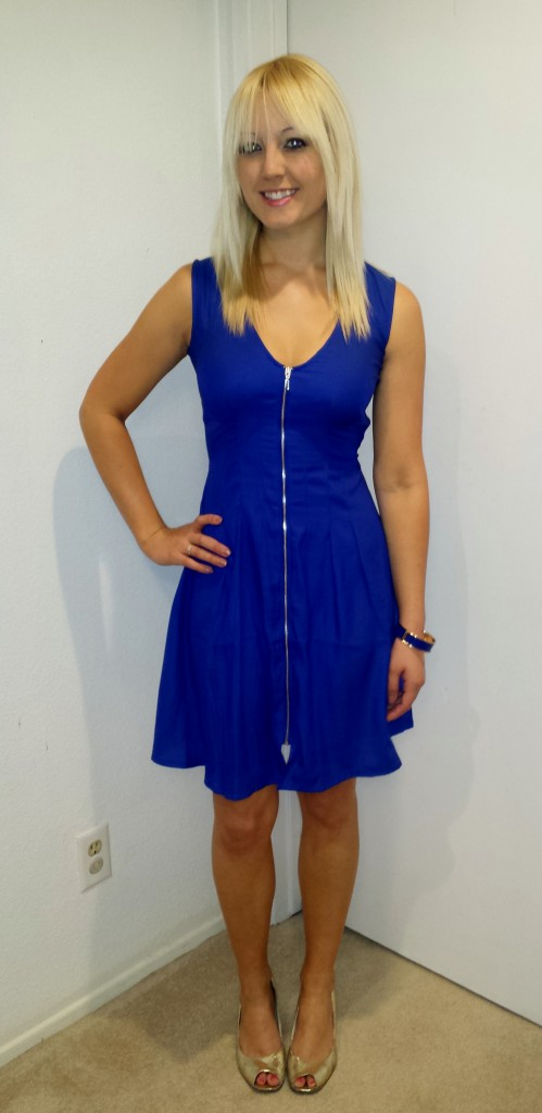 Blue Work Party Dress 3