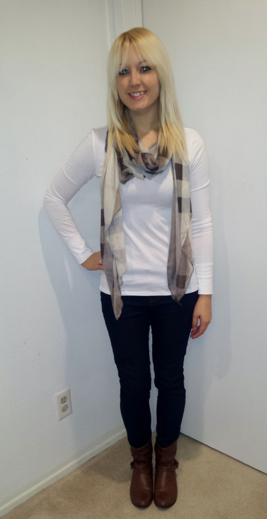 Brown Scarf and Boots 1