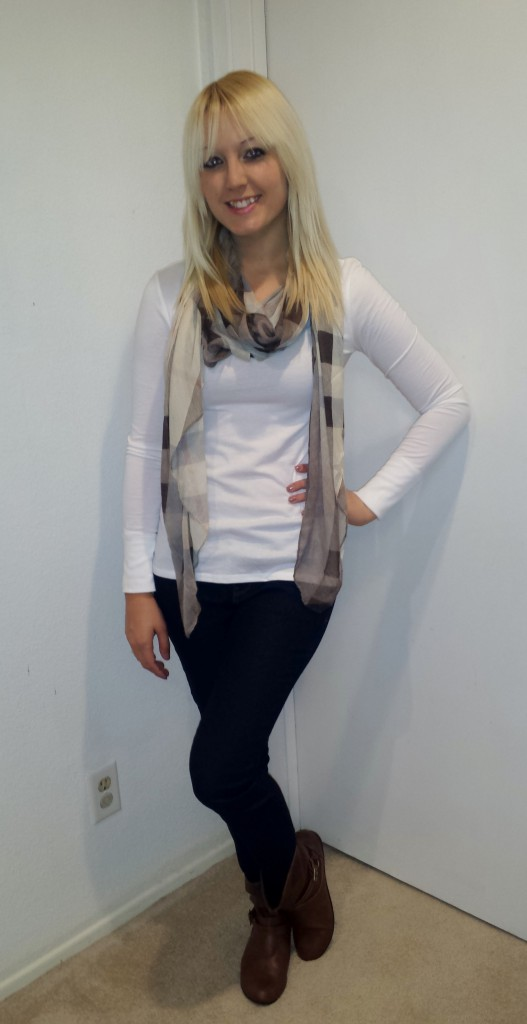 Brown Scarf and Boots 2