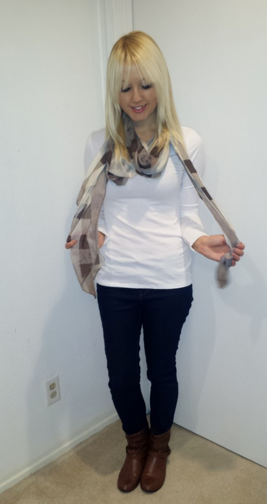 Brown Scarf and Boots 3
