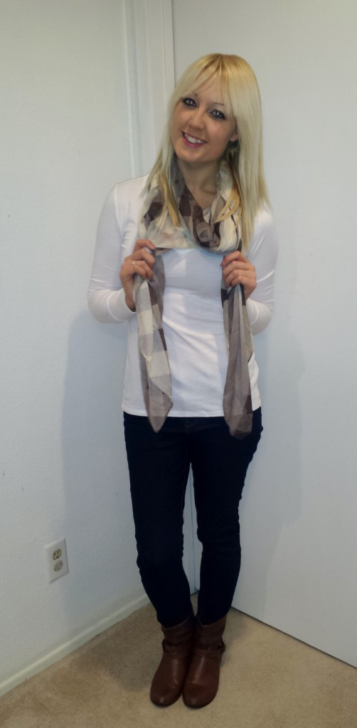 Brown Scarf and Boots 4