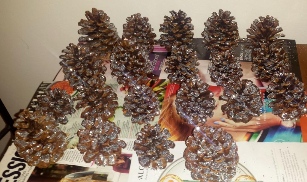 Glitter Pinecones 6