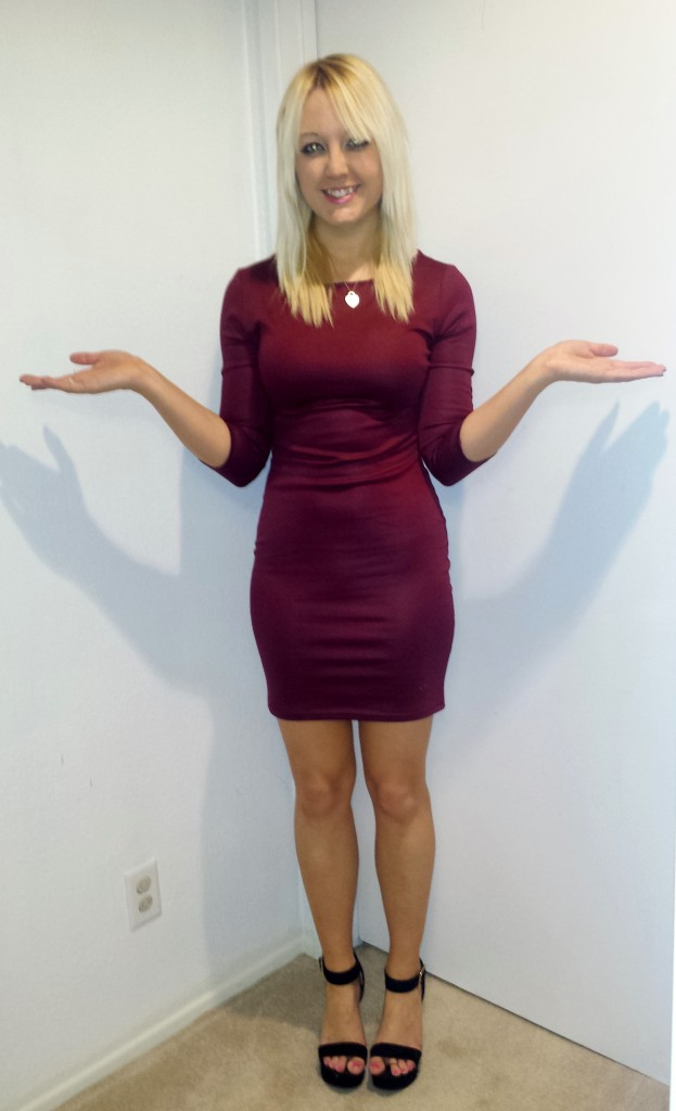 Maroon dress and heels 3