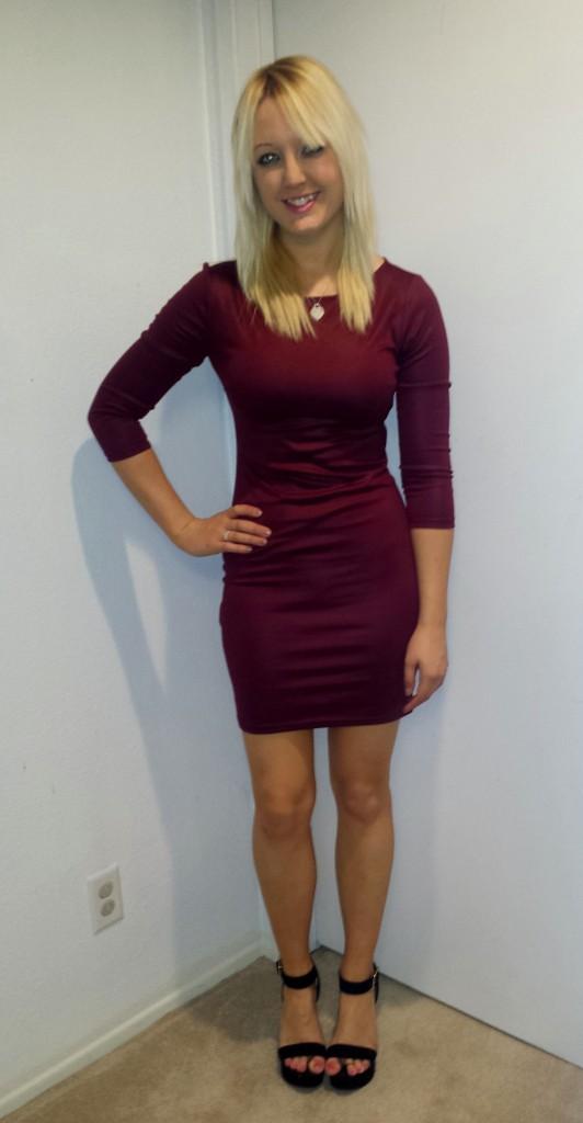 Maroon dress and heels 4
