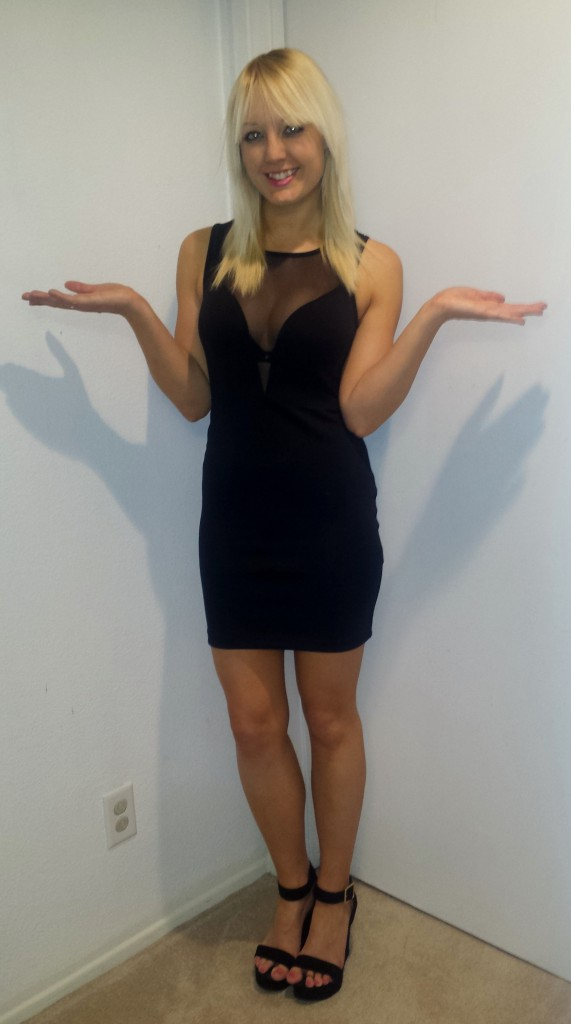 Sheer front dress 2