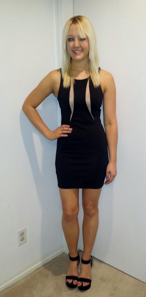 Sheer panel dress 3