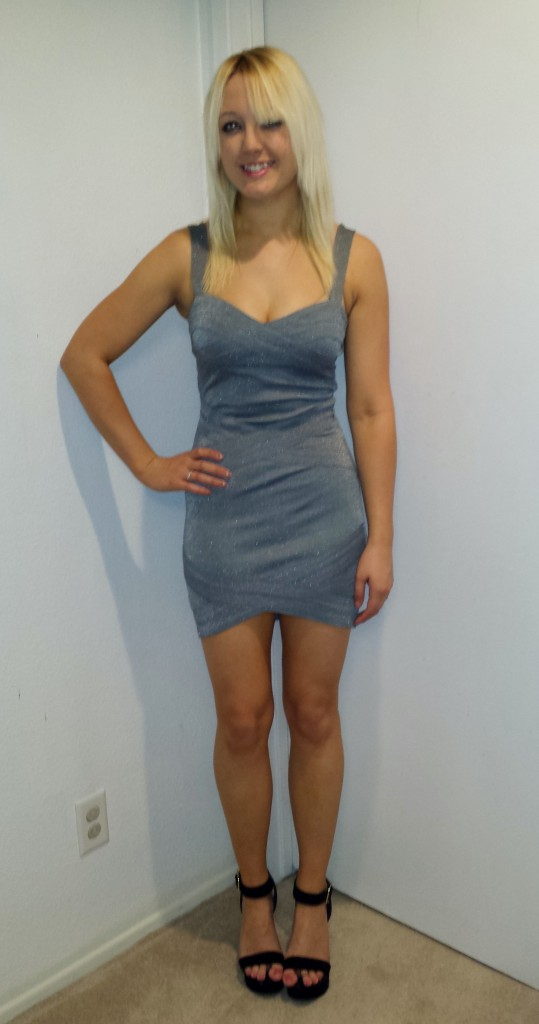Silver glitter dress 4