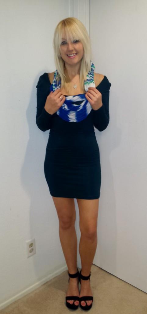 Teal Long-Sleeved Dress 2