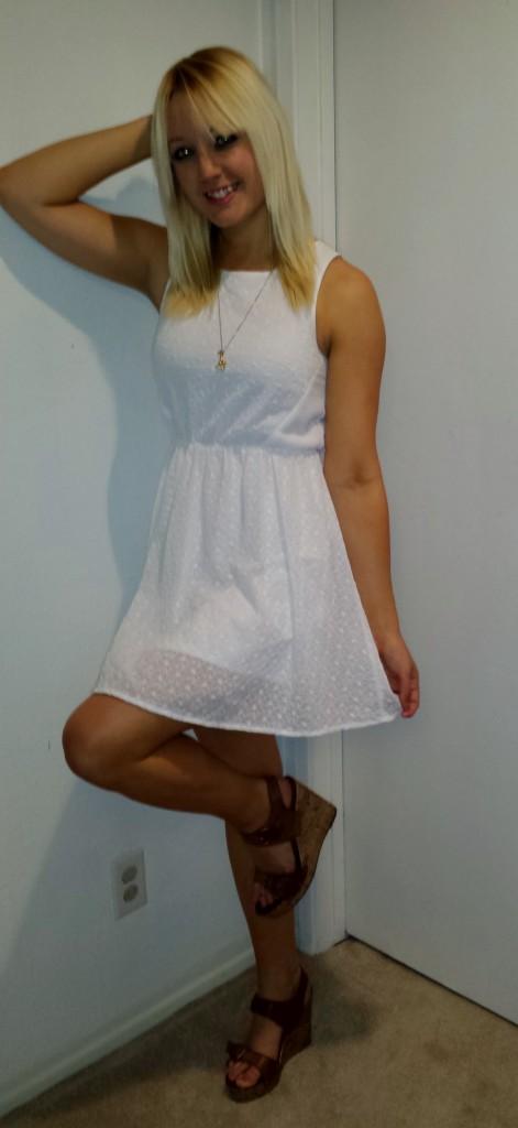 White eyelet lace dress 1