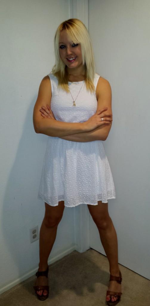 White eyelet lace dress 2