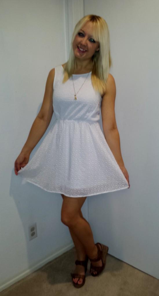 White eyelet lace dress 4