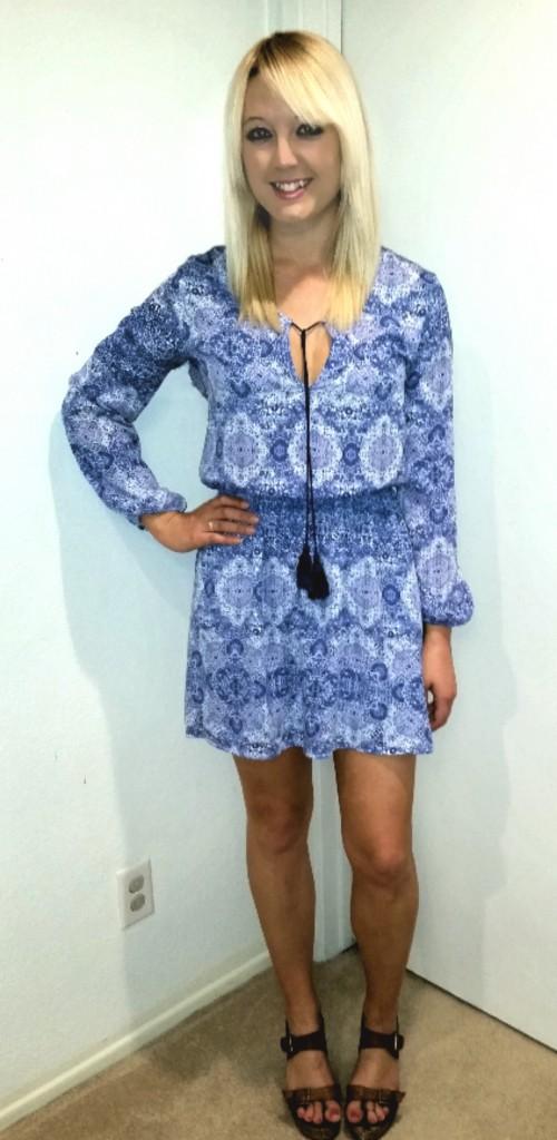 Blue tassel dress 2